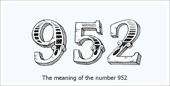 952 Angelo skaičius Dvasinė prasmė