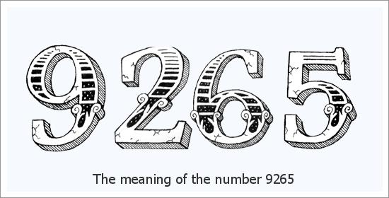 9265 Numer anioła Duchowe znaczenie