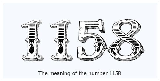 1158 Eņģeļa skaitļa garīgā nozīme