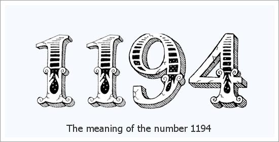 1194 Numer anioła Znaczenie duchowe